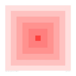 "Power Color 2: Your Presence Is Required (Blush to Crimson) Original Pigment Print - 30x30"" For Sale"
