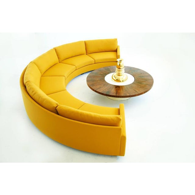 Milo baughman semi circular sofa for Semi classic sofa