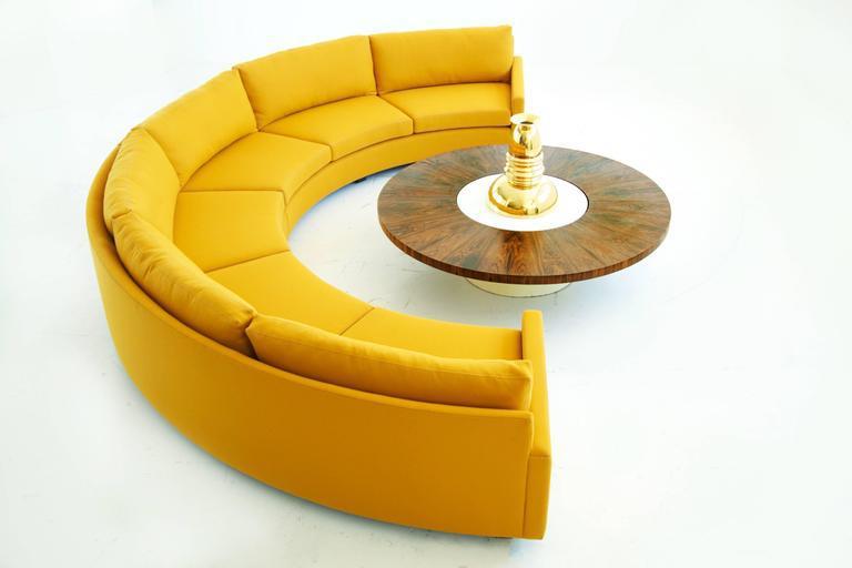 Milo Baughman Semi Circle Sectional Sofa   Image 5 Of 10