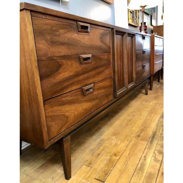 Mid Century Walnut Credenza Style Lowboy Dresser 1960's For Sale - Image 11 of 13
