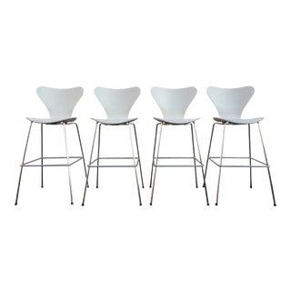Set of 4 Barstools Designed by Arne Jacobsen for Fritz Hansen For Sale