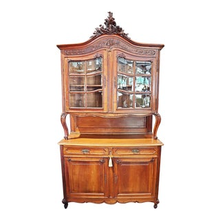 French Country Buffet à Deux Corps Hutch For Sale