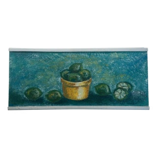 "1950's Still Life Painting ""Limes"" For Sale"