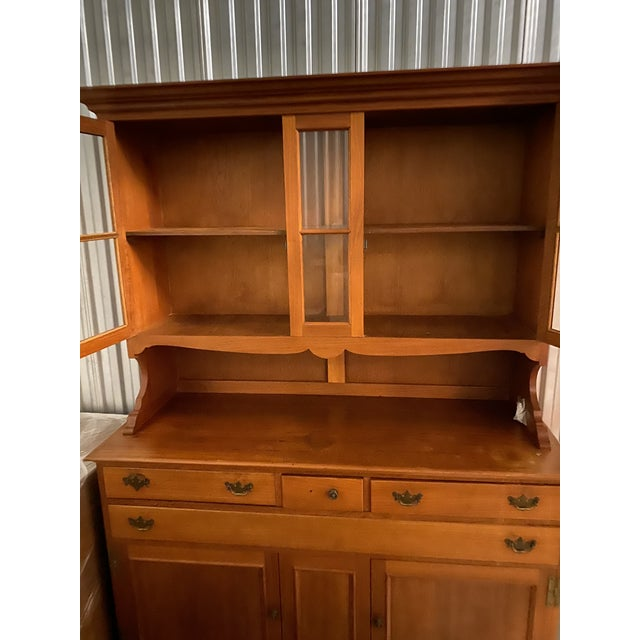 Traditional Vintage Teak China Cabinet/Buffet For Sale - Image 3 of 6