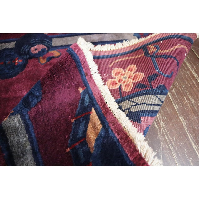 Antique Art Deco Chinese Rug For Sale - Image 4 of 11