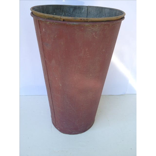 Vintage Painted Sap Bucket - Image 2 of 9