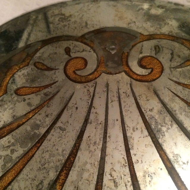 Antique Mirror Sconce Panels - Pair - Image 7 of 8