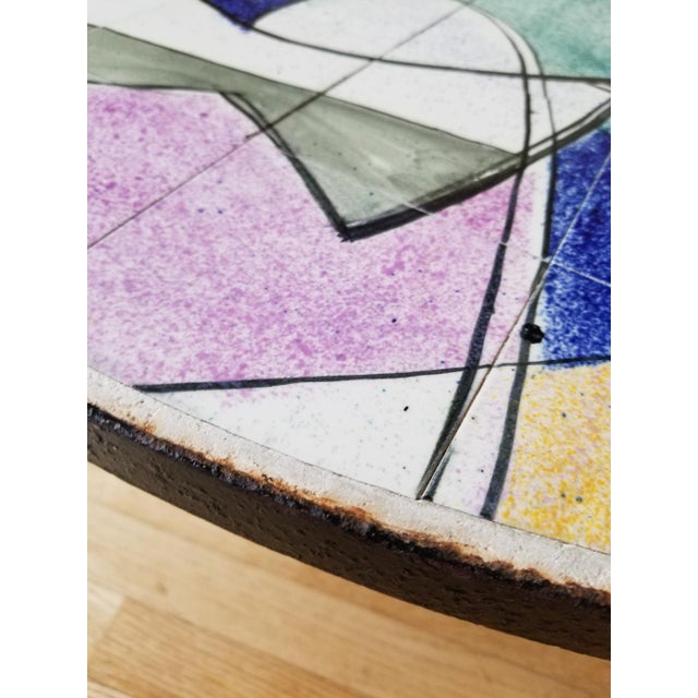 Mid 20th Century Ceramic Tile Coffee Table For Sale In New York - Image 6 of 9