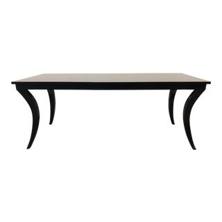 Transitional Sabre Leg Dining Table For Sale