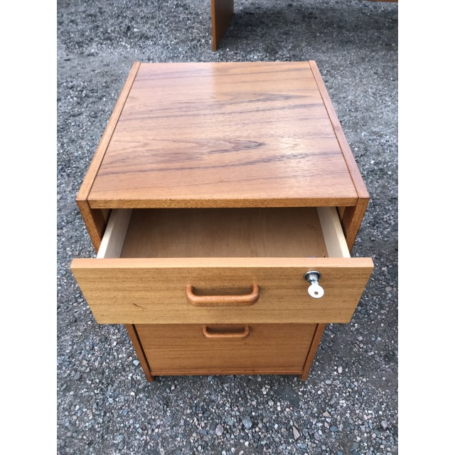 Chocolate Danish Teak File Cabinet on Casters by Jesper For Sale - Image 8 of 13