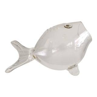 Blenko Hand-Blown Glass Fish Bowl For Sale