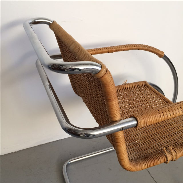 Brown Mies Van Der Rohe Mr Chrome Armless Chair For Sale - Image 8 of 9