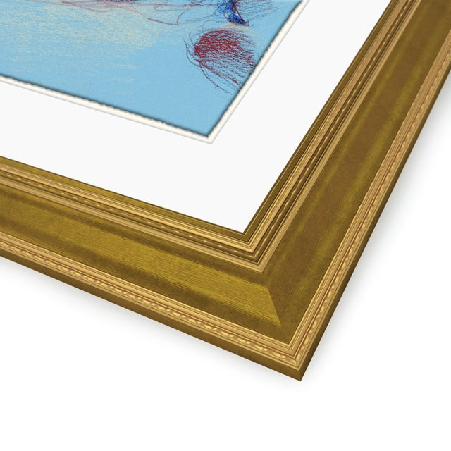 Figure Horitzontal, Set of 4 by David Orrin Smith in Gold Frame, Small Art Print For Sale In Austin - Image 6 of 7