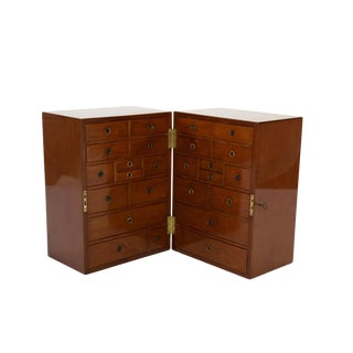 Campaign Style Solid Mahogany Apothecary Chest, Circa 1860 For Sale
