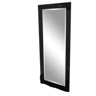 Chinoiserie Black Lacquer Mirror For Sale