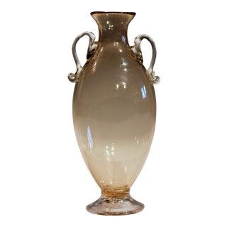 1920s Vittorio Zecchin for Cappellin & Venini Murano Glass Vase For Sale