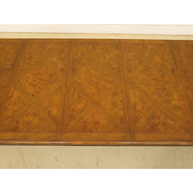 1970s Queen Anne Baker Walnut & Oak Dining Room Table For Sale - Image 9 of 12