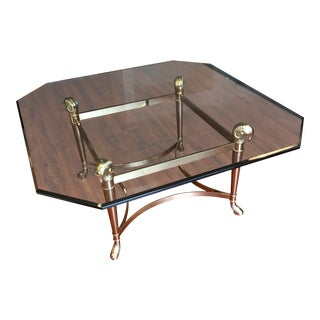 La Barge Rams Head Brass Coffee Table For Sale