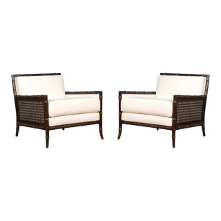 Exquisite Pair of Vintage Loungers in the Style of Gibbings