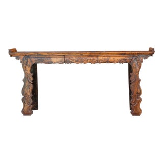 Exemplary Early 19th Century Scroll Altar Table For Sale