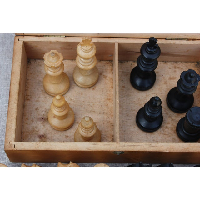 Vintage Wood Chess Set - Image 4 of 4