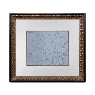 1962 Pablo Picasso Limited Edition Linocut Print For Sale