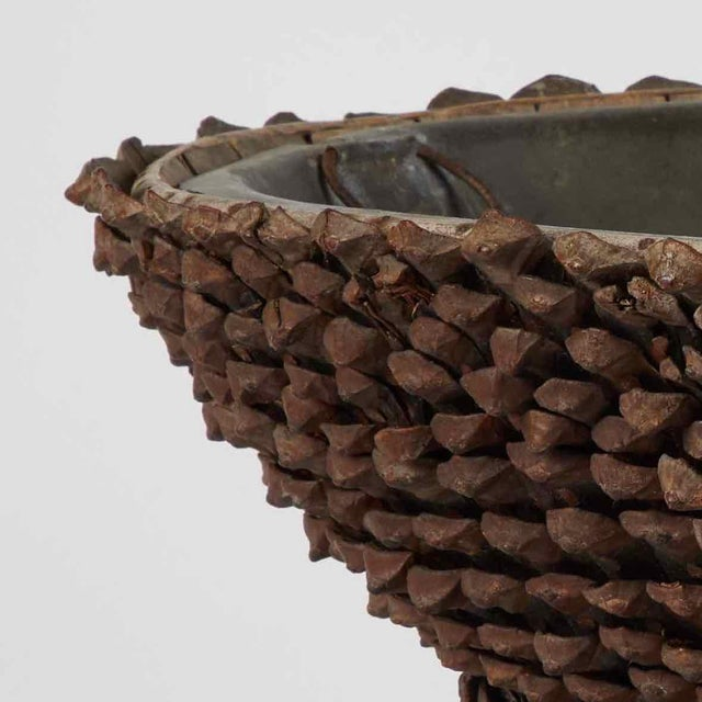 Mid-19th Century French Tazza Pine Cones Decorated Wine Cooler For Sale - Image 4 of 5