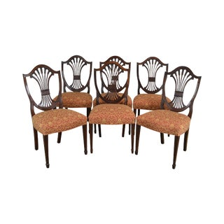 Stickley Monroe Place Classics Mahogany Hepplewhite Style Set 6 Dining Chairs For Sale