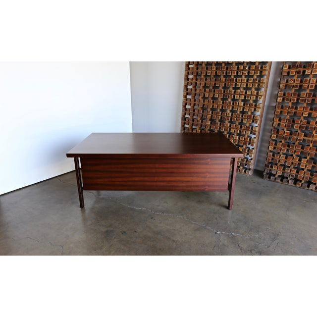 Mid 20th Century Mid Century Arne Vodder for h.p. Hansen Rosewood Executive Desk For Sale - Image 5 of 10