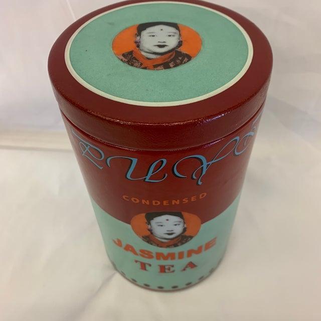 Fabienne Jouvin Paris Pop Art Ceramic Tea Jar For Sale - Image 10 of 11