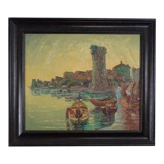 Antique Landscape Painting, signed and framed