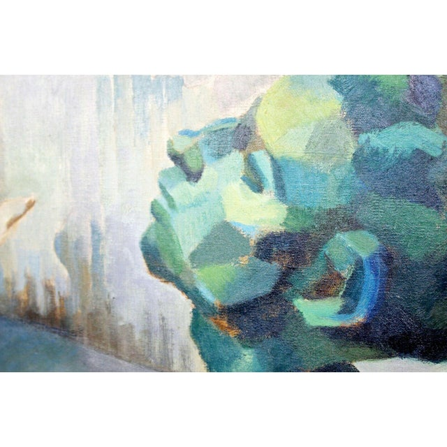 For your consideration is a unique, framed, Impressionist oil on canvas painting, signed B. Rosenbaum, circa the 1970s. In...