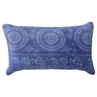Faded Purple & White Batik Pillow