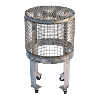 Industrial Steel Cage Rolling Table/ Cart by Blackman Cruz