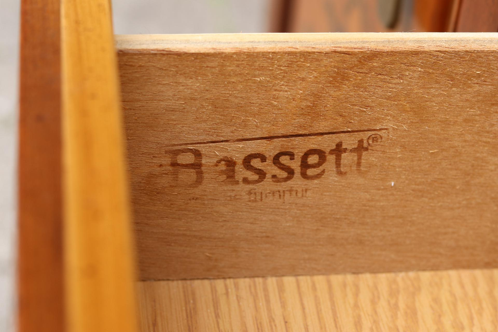 bassett furniture logo. Glass Ming Style China Cabinet By Bassett Furniture For Sale - Image 7 Of Logo