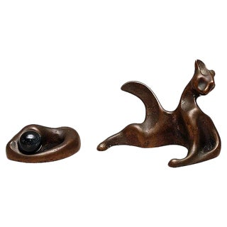 Colin Webster-Watson Bronze Cats For Sale