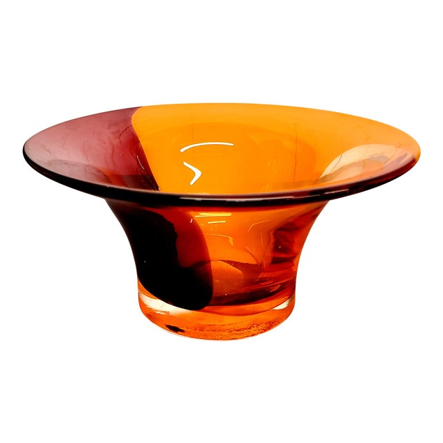 Image of 1970s Italian Murano Glass Bowl