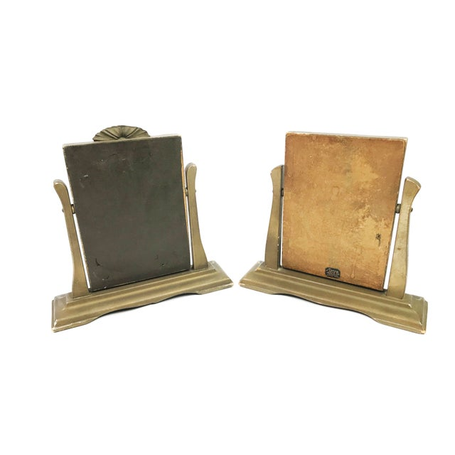 1920s Art Deco Wooden Tilting Picture Frames - a Pair | Chairish
