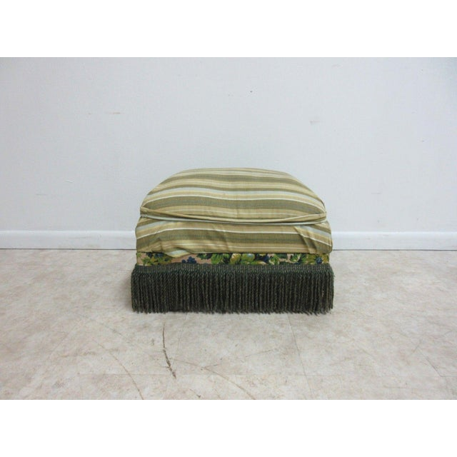 Cottage Antique Storage Footstool Ottoman For Sale - Image 3 of 11