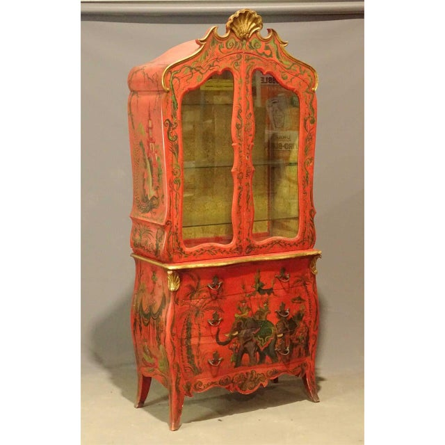 Irwin & Lane James Reynolds Chinoiserie Display Case on Commode For Sale - Image 13 of 13