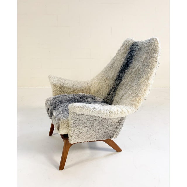 Adrian Pearsall for Craft Associates Chair Restored in Gotland Sheepskin For Sale In Saint Louis - Image 6 of 11