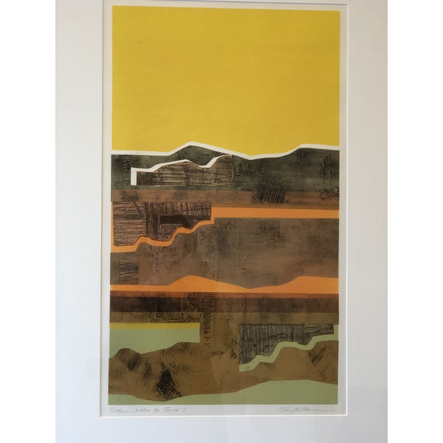 Eric Bellman Mixed Media Abstract of Southwest For Sale - Image 9 of 11