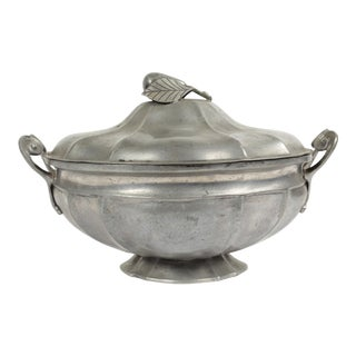 Antique Pewter Tureen