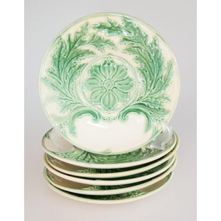 French Gien Majolica Artichoke Plates, 6 Available Preview