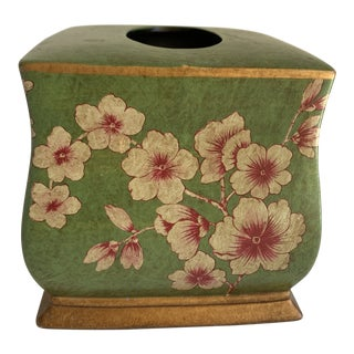 Cherry Blossom Ceramic Decor Tissue Box Cover For Sale