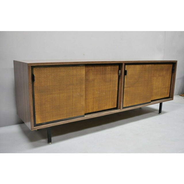 1970s Mid Century Modern Laminate Formica Case Credenza For Sale - Image 12 of 13