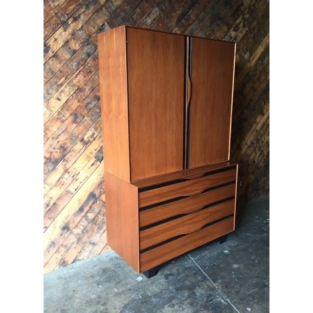John Kapel Mid-Century Walnut Armoire - Image 4 of 8