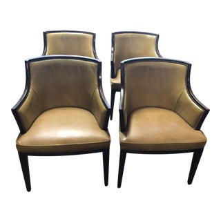 1970s Vintage Regency Style Armchairs - Set of 4 For Sale