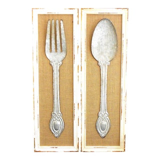 Fork and Spoon Wall Art - Set of 2 For Sale