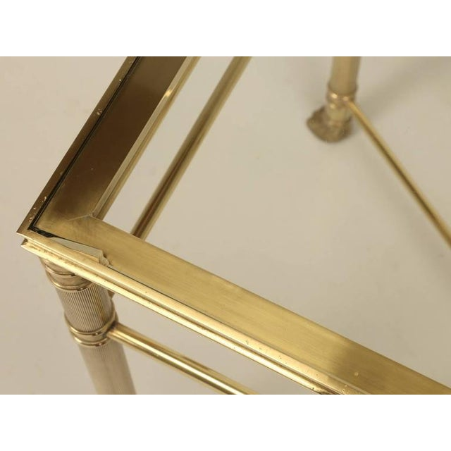Metal Mid-Century Modern Brass End Table with Paw Feet For Sale - Image 7 of 10